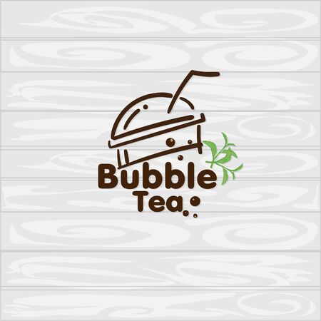 bubble tea logo icon graphic template
