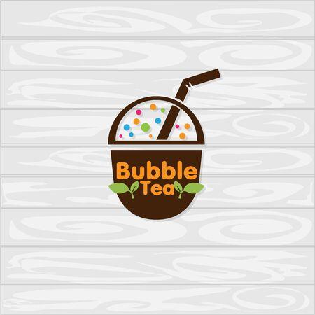 bubble tea logo icon graphic template