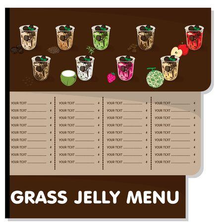 menu grass jelly graphic template Vektorové ilustrace
