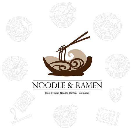noodle ramen icon logo graphic restaurant