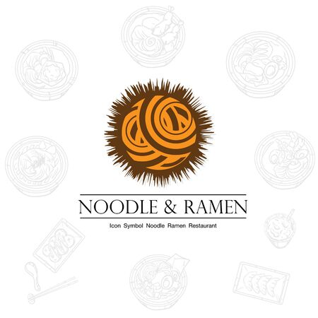 noodle ramen icon logo graphic restaurant