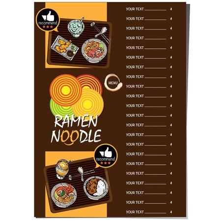 menu ramen noodle japanese food template design Standard-Bild - 129300641