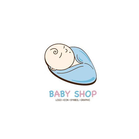 baby graphic icon symbol logo Standard-Bild - 129300824