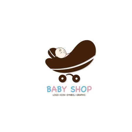 baby graphic icon symbol logo Standard-Bild - 129300836