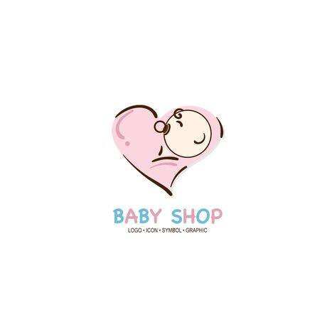 baby graphic icon symbol logo Standard-Bild - 129300833