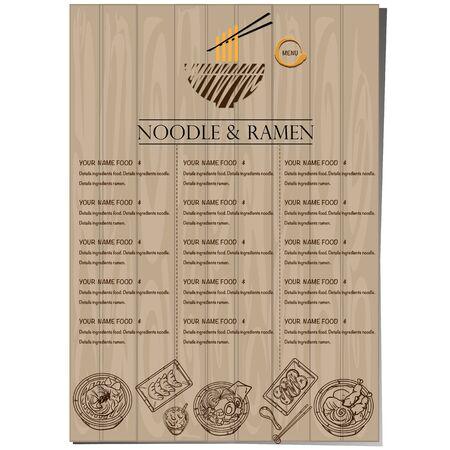 menu ramen noodle japanese food template design Standard-Bild - 129300835
