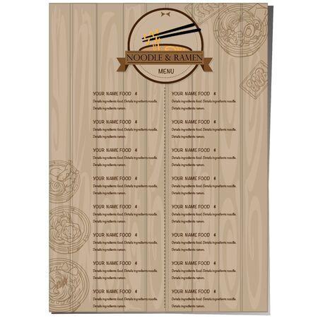 menu ramen noodle japanese food template design Standard-Bild - 129300840
