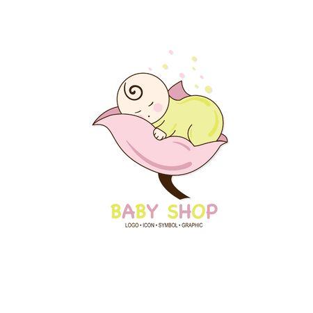 baby graphic icon symbol logo Standard-Bild - 129301046