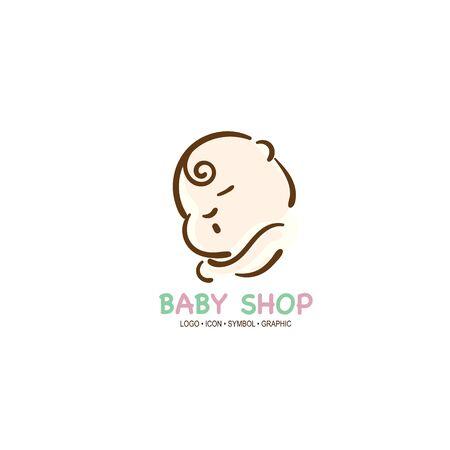 baby graphic icon symbol logo Standard-Bild - 129301036