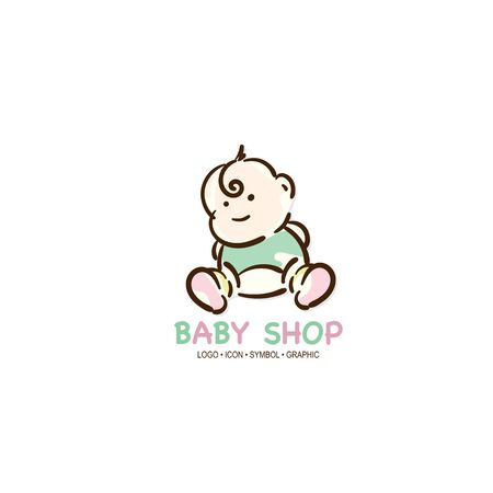 baby graphic icon symbol logo Standard-Bild - 129301043