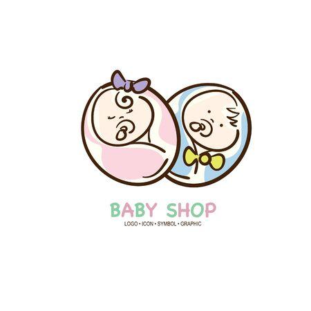 baby graphic icon symbol logo Standard-Bild - 129301087