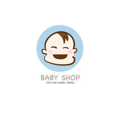 baby graphic icon symbol logo Standard-Bild - 129301079