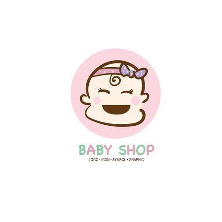 baby graphic icon symbol logo Standard-Bild - 129301072