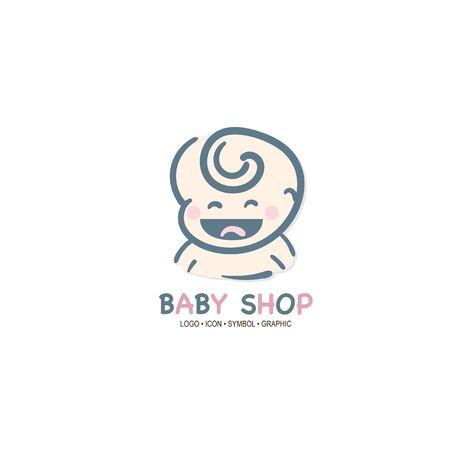 baby graphic icon symbol logo Standard-Bild - 129301081