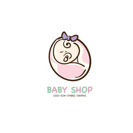 baby graphic icon symbol logo Standard-Bild - 129301095