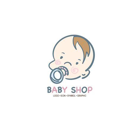 baby graphic icon symbol logo Standard-Bild - 129301110