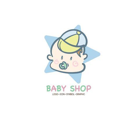 baby graphic icon symbol logo Standard-Bild - 129301558