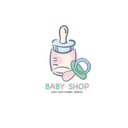 baby graphic icon symbol logo Standard-Bild - 129301571