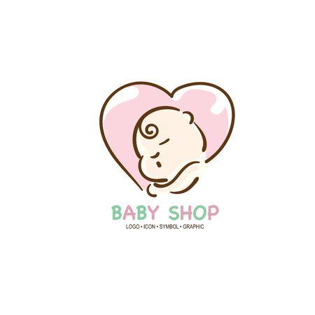 baby graphic icon symbol logo Standard-Bild - 129301591