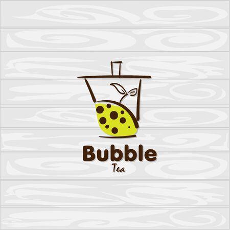 bubble tea icon graphic template Standard-Bild - 129301725