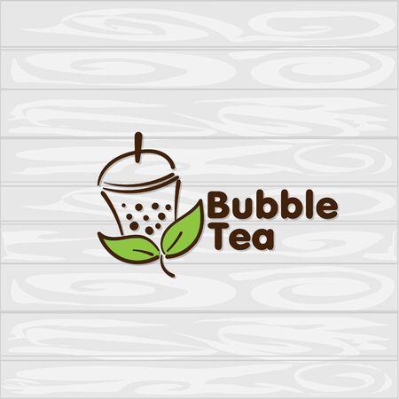 bubble tea icon graphic template Standard-Bild - 129301721