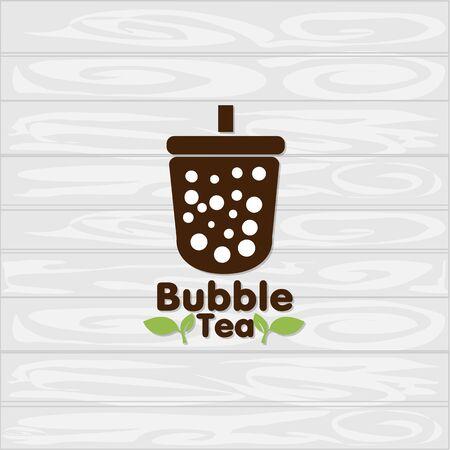 bubble tea icon graphic template Standard-Bild - 129301731