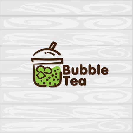 bubble tea icon graphic template Standard-Bild - 129301724