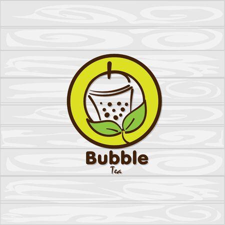 bubble tea icon graphic template Standard-Bild - 129301733