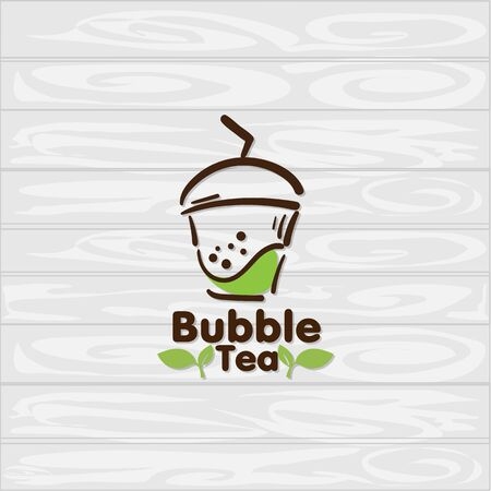 bubble tea icon graphic template Standard-Bild - 129301734