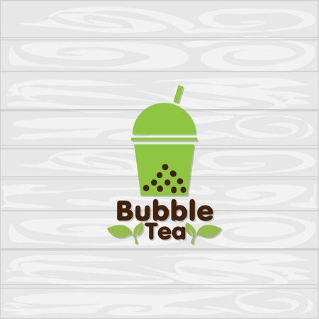 bubble tea icon graphic template Standard-Bild - 129301735