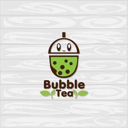 bubble tea icon graphic template Standard-Bild - 129301737
