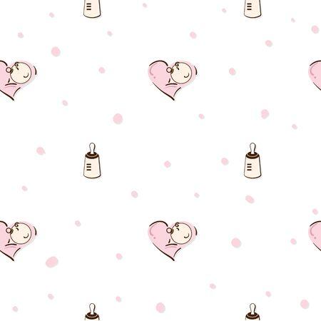 baby graphic pattern wallpaper object Standard-Bild - 129301736
