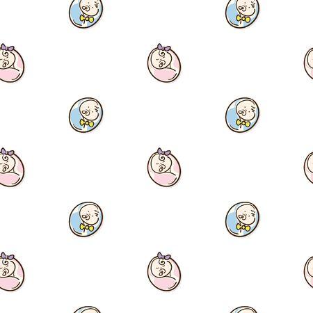baby graphic pattern wallpaper object Standard-Bild - 129301743