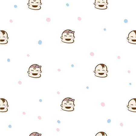 baby graphic pattern wallpaper object Standard-Bild - 129301744