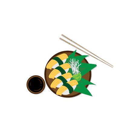 sushi sashimi japan food graphic object restaurant