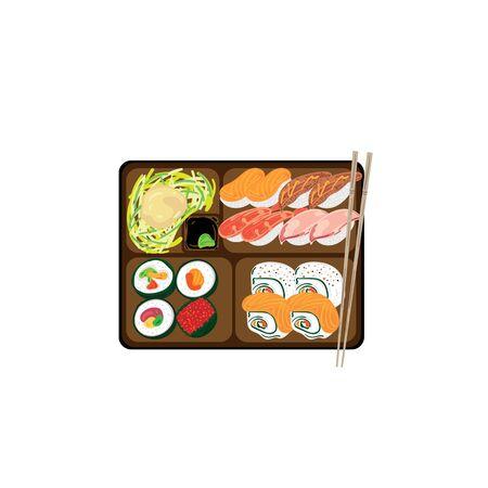 objet graphique de la boîte à bento japonaise