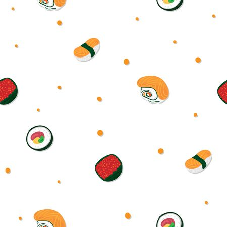 sushi sashimi japan food graphic object pattern background  イラスト・ベクター素材