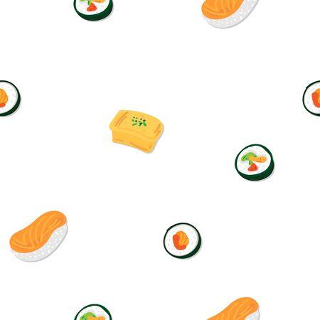 sushi sashimi japan food graphic object pattern background