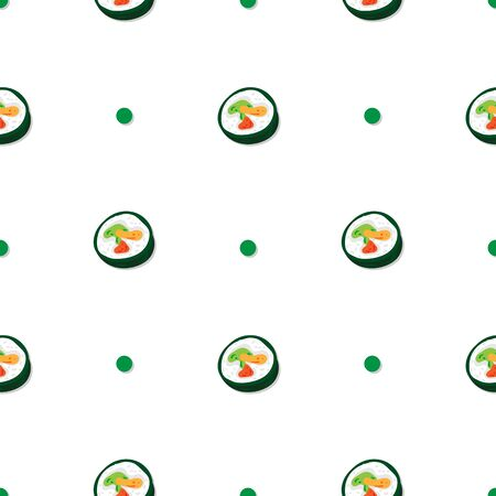 sushi sashimi japan food graphic object pattern background