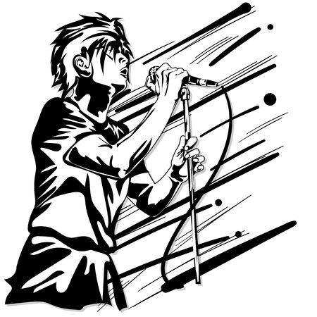 singer man music graphic action band