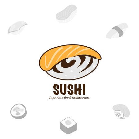 sushi logo graphic japanese food