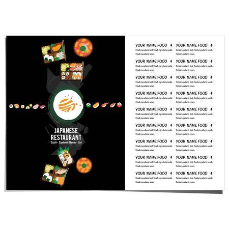 bento sushi set japanese food restaurant menu template design graphic