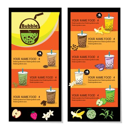 bubble tea menu graphic template Stock fotó - 138792614