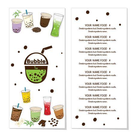 bubble tea menu graphic template Stock fotó - 138694852