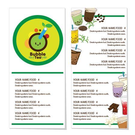 bubble tea menu graphic template Stock fotó - 138792854