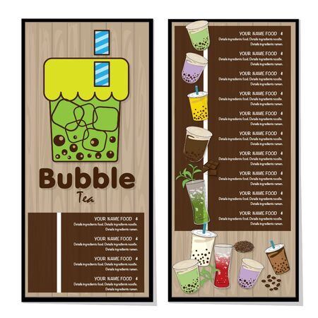 bubble tea menu graphic template Stock fotó - 138695270