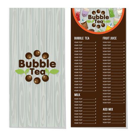 bubble tea menu graphic template Stock fotó - 138792867