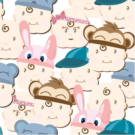 baby graphic pattern wallpaper object