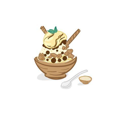 ice cream bingsu dessert drawing graphic objectice cream bingsu dessert drawing graphic object 矢量图像