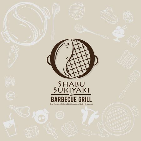 shabu sukiyaki and grill sign symbol logo icon food restaurant